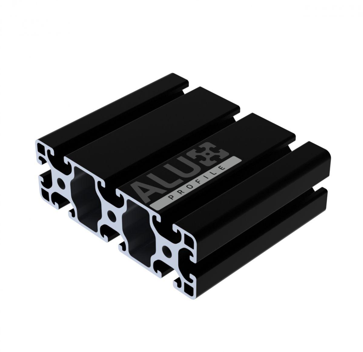 aluminium slot profile 40120 black