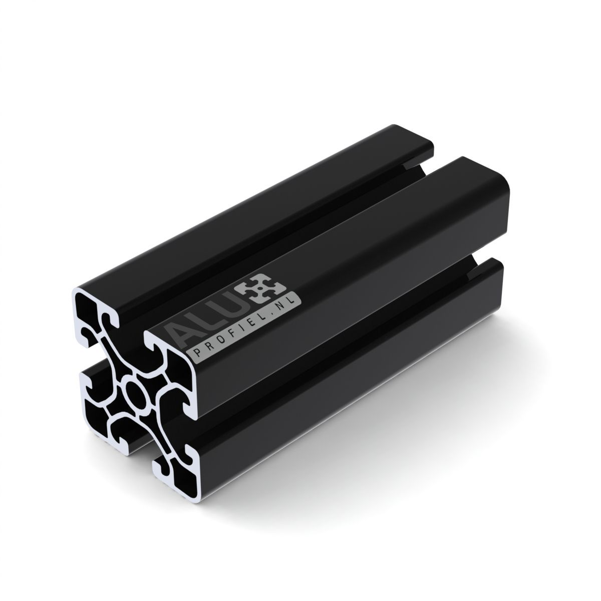 aluminium construction profile black 40x40