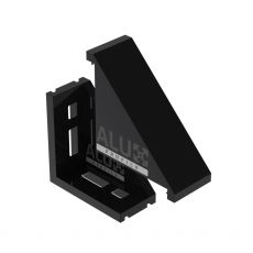Corner bracket 3060 black + cover
