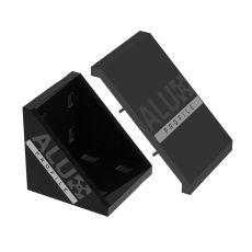 Corner bracket 8080 black + cover