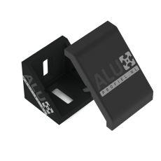 Corner bracket black 4040 + Cover