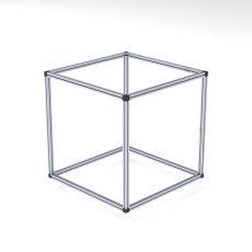 Cube out of 4040 profiles