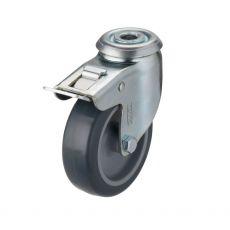 Swivel castor wheel with brake 75mm