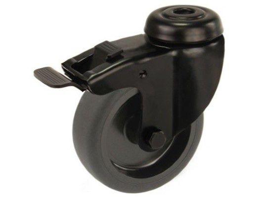 castor black 75mm brake